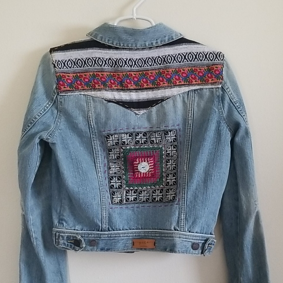 One of a kind collaboration jean jacket sz L
